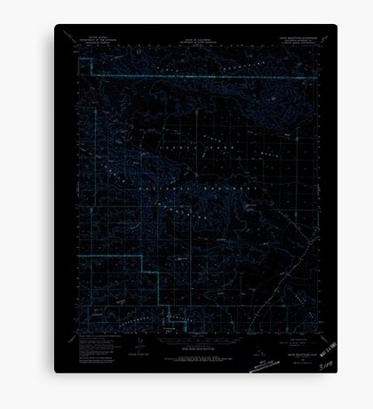 USGS TOPO Map California CA Hexie Mountains 297712 1963 62500 geo Inverted Canvas Print