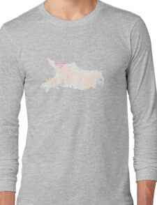 Watercolor woman with pink lips Long Sleeve T-Shirt