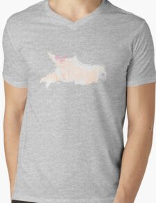 Watercolor woman with pink lips Mens V-Neck T-Shirt