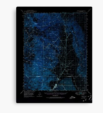 USGS TOPO Map California CA Trona 301863 1949 62500 geo Inverted Canvas Print