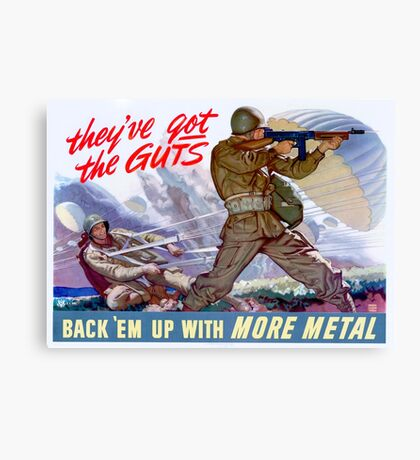 WWII Paratrooper poster  Canvas Print