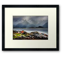 Abandoned Fisherman's Hut. Lofoten Islands. Norway. Framed Print