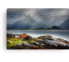 Abandoned Fisherman's Hut. Lofoten Islands. Norway. Canvas Print