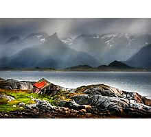Abandoned Fisherman's Hut. Lofoten Islands. Norway. Photographic Print