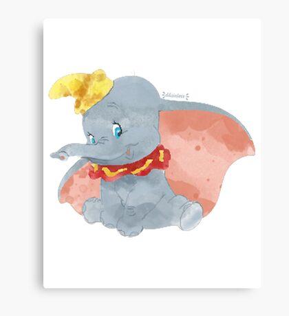 Watercolor Dumbo Canvas Print