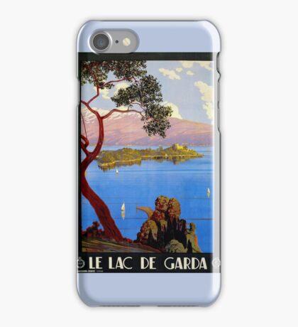 Vintage 1920s Lake Garda French Italian travel advert iPhone Case/Skin
