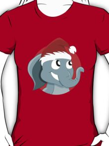 Cute Christmas elephant cartoon T-Shirt