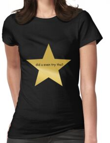gold star  Womens Fitted T-Shirt