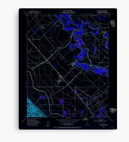 USGS TOPO Map California CA Westley 301309 1952 24000 geo Inverted Canvas Print