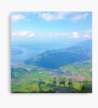 Green Landscape from Above Canvas Print