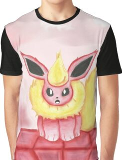 Flareon: Fire in its heart! Graphic T-Shirt