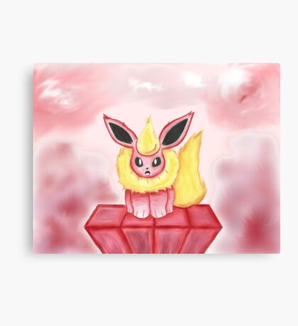Flareon: Fire in its heart! Canvas Print