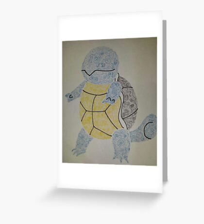 Swirlly Squirtle Greeting Card