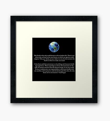 Peice of a Pale Blue Dot Framed Print
