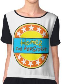 HOMER FOR PRESIDENT Chiffon Top