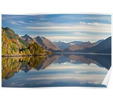 Five Sisters and Loch Duich, from Inverinate . North West Highlands. Scotland. Poster