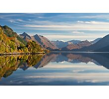 Five Sisters and Loch Duich, from Inverinate . North West Highlands. Scotland. Photographic Print