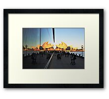Rocks Boardwalk & Two Opera Houses, Sydney 2013 Framed Print