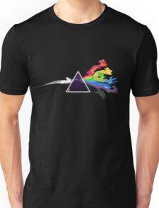 The Dark Side Of The Moon & rainbow rabbits Unisex T-Shirt