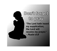 Don't Forget to Pray (Praying Child Silhouette) by bibleschlmerch
