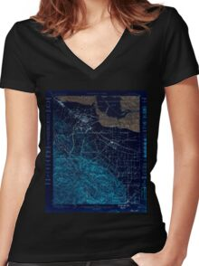 USGS TOPO Map California CA Palo Alto 298453 1899 62500 geo Inverted Women's Fitted V-Neck T-Shirt