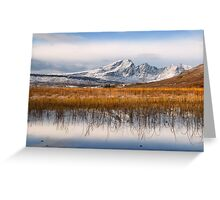 Blaven, Reeds and Snow. Isle of Skye. Scotland. Greeting Card