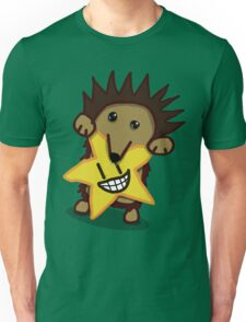 Avant-garde hedgehog holding starfruit Unisex T-Shirt