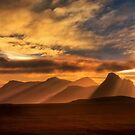 Sunrise over Stac Pollaidh, Inverpolly, North West Scotland. by PhotosEcosse