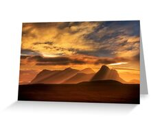 Sunrise over Stac Pollaidh, Inverpolly, North West Scotland. Greeting Card