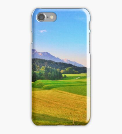 Mountain and Field Countryside iPhone Case/Skin