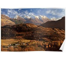 The Five Sisters of Kintail. North West Highlands of Scotland. Poster