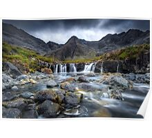 The Fairy Pools. Glen Brittle. Isle of Skye. Scotland. Poster