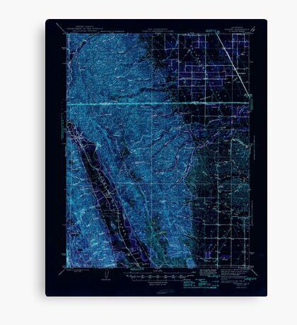 USGS TOPO Map California CA Rumsey 298807 1945 62500 geo Inverted Canvas Print