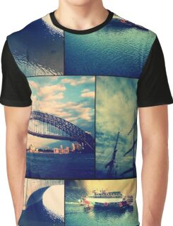 Water Collage Graphic T-Shirt