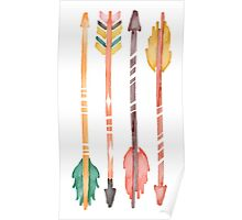 Watercolor Arrows Poster