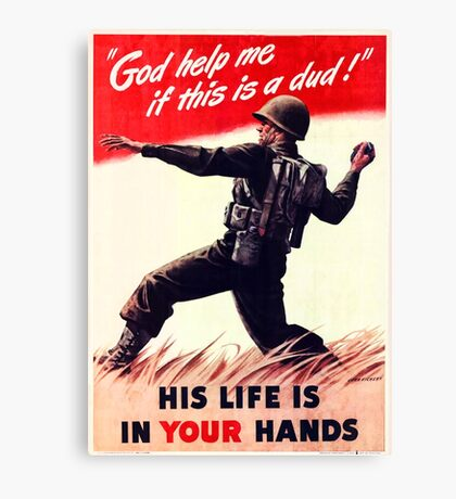 WWII Poster Canvas Print