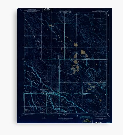 USGS TOPO Map California CA Buttonwillow 295968 1932 31680 geo Inverted Canvas Print