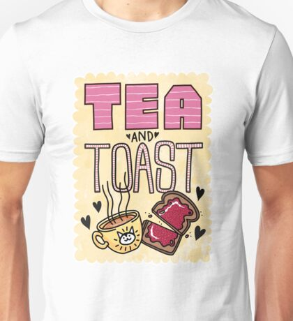 Tea and Toast - Yellow Version Unisex T-Shirt