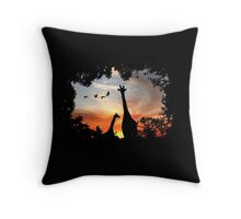 Wild African Sunset Throw Pillow