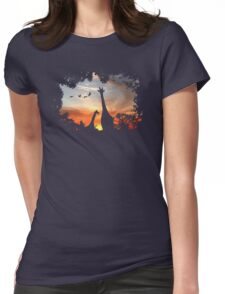 Wild African Sunset Womens Fitted T-Shirt
