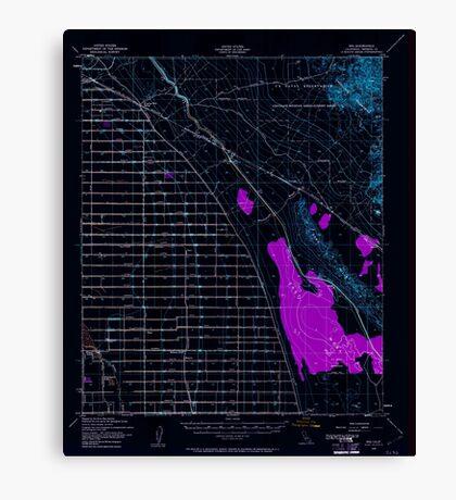 USGS TOPO Map California CA Iris 297789 1940 62500 geo Inverted Canvas Print