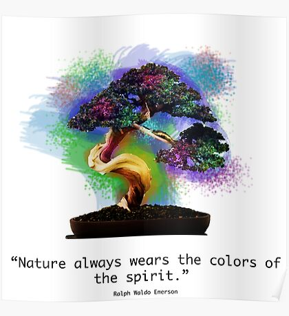 Nature Always Wears the Colors of the Spirit Poster