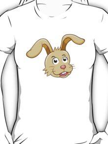Head of funny yellow cartoon rabbit T-Shirt