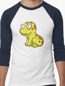 Cute yellow cartoon frog Men's Baseball ¾ T-Shirt