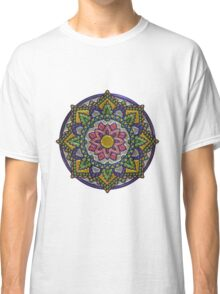 Colorful metallic mandala  Classic T-Shirt