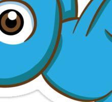 Adorable blue cartoon bird Sticker
