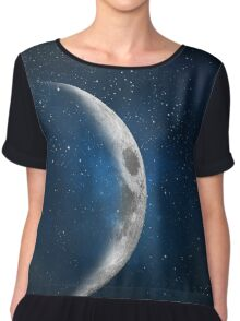 Waxing Crescent Moon Phase Chiffon Top