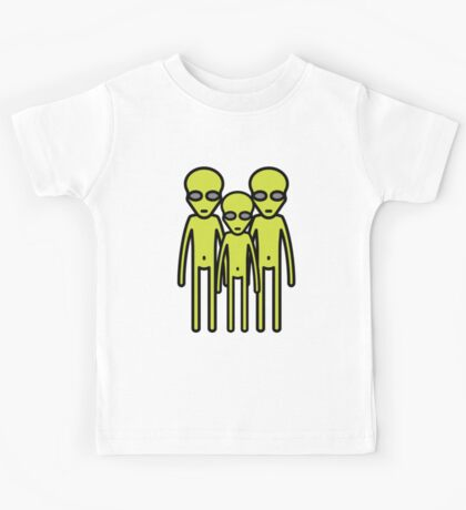 Three aliens staring at you Kids Tee