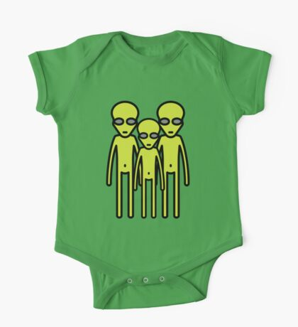 Three aliens staring at you One Piece - Short Sleeve