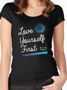 Always Keep Fighting - Love Yourself First Women's Fitted Scoop T-Shirt